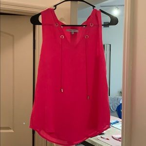 NWOT Florescent Pink Sleeveless Top Size S